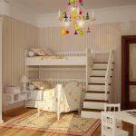 Chambre d'enfants pour deux enfants dans le style de la Provence