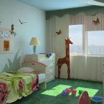 Chambre d'enfants pour l'option Feng Shui