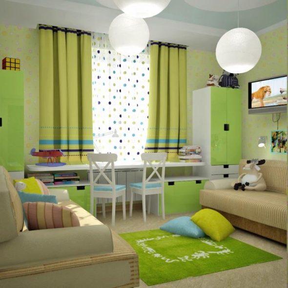 Design d'intérieur de chambre d'enfants