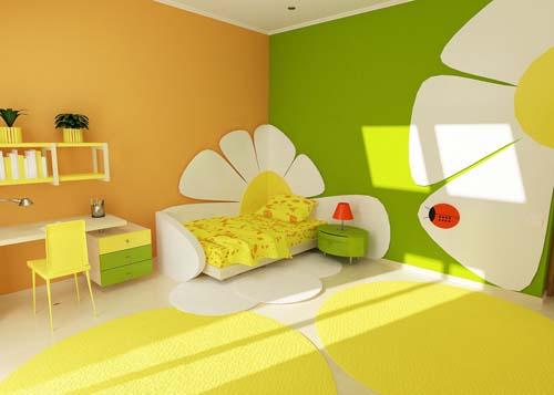 Design lumineux chambre des enfants