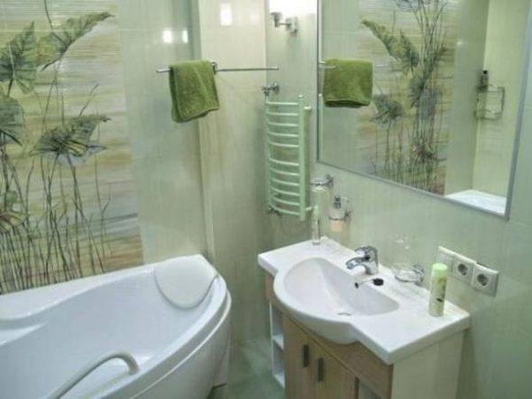 Kylpyhuoneen design 2 neliö. m