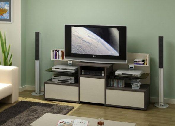 Support long pour un téléviseur grand écran