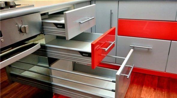 Sluitingen voor keukenkasten-installatie