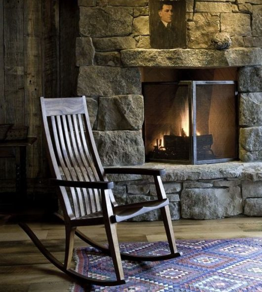 rocking chair au coin du feu