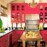 Keuken met geschilderde gevel