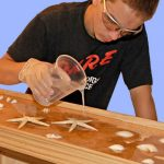 Transparante countertops van epoxyhars