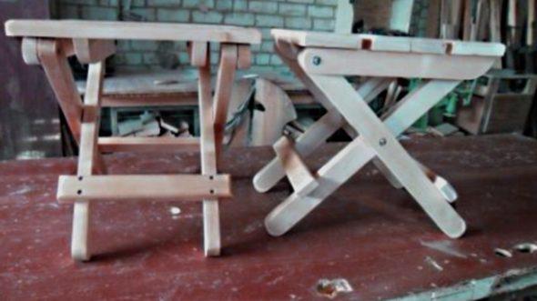 Chaise haute en bois pliable faites-le vous-même