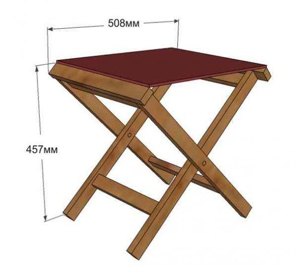 Chaise haute pliante faites-le vous-même