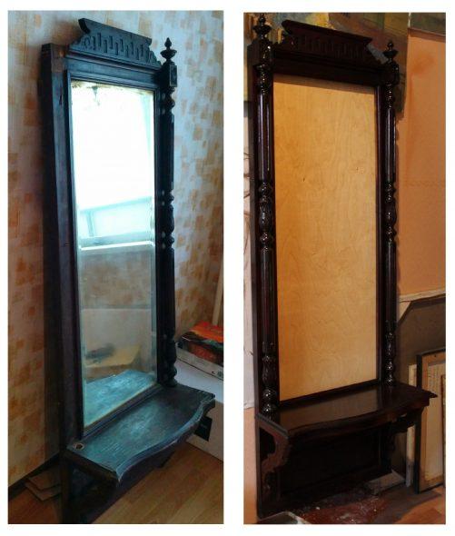 Miroir de sol antique