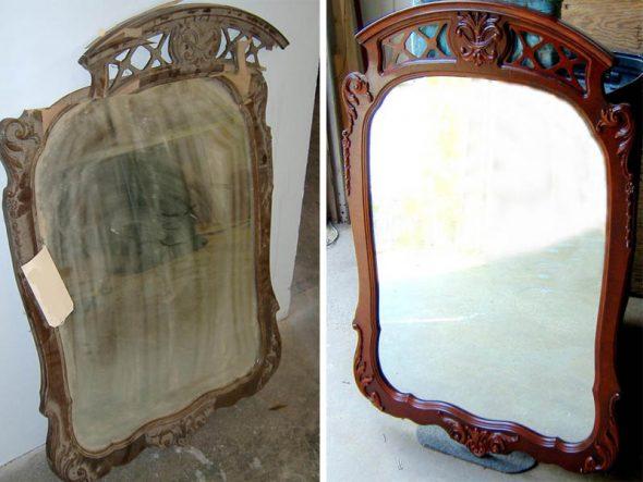 Vieux miroir photo