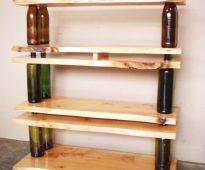 Rack de bouteilles et de planches
