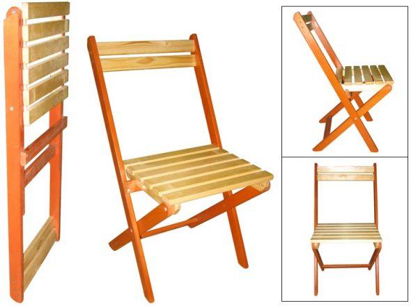 Chaise pliante avec dossier