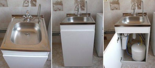 Cabinet pour la lessive