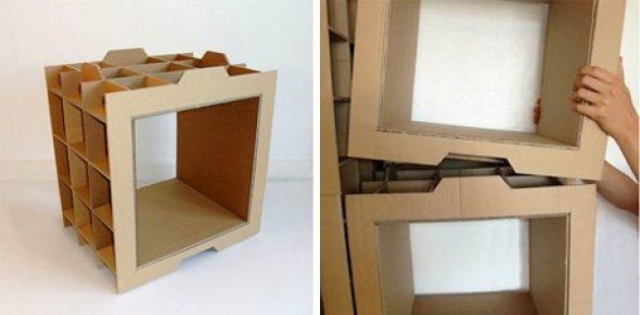 Koko rakenne koostuu erillisistä neliölohkoista.