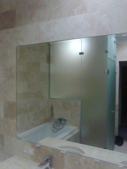 Miroir intégré dans la tuile avec une large facette