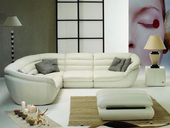 sofa góc trắng