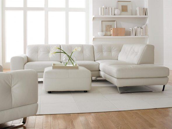 góc sofa trắng