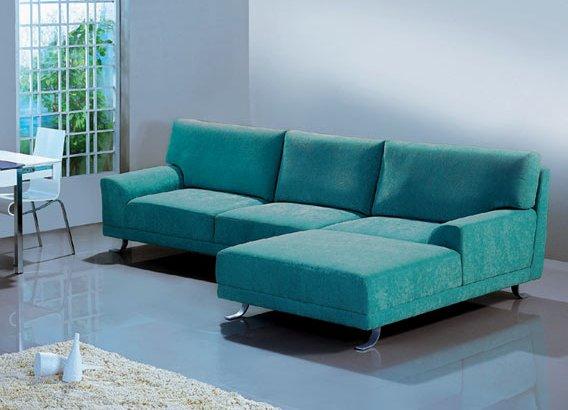 phòng khách với ghế sofa góc