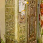 décorer l'armoire peinte
