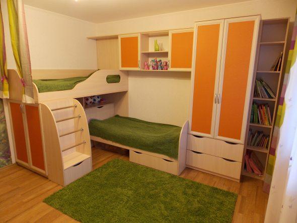 chambre d'enfants pour deux enfants
