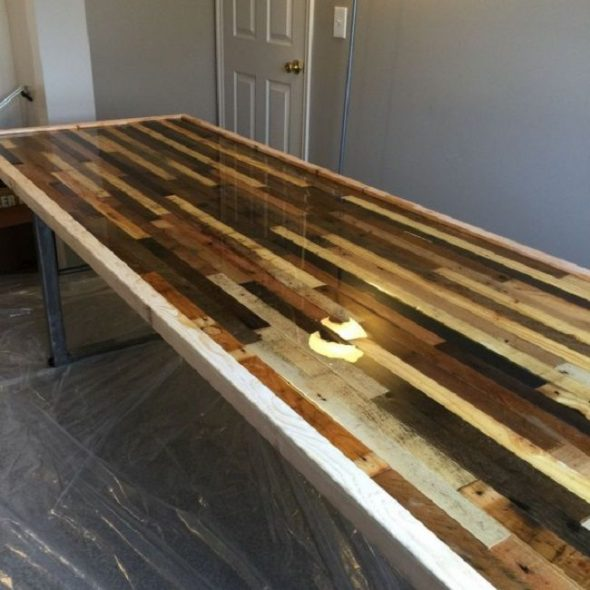 hout en epoxyhars