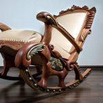 fauteuil à bascule en chêne