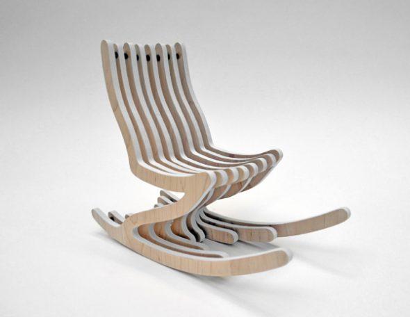 fauteuil design en contreplaqué