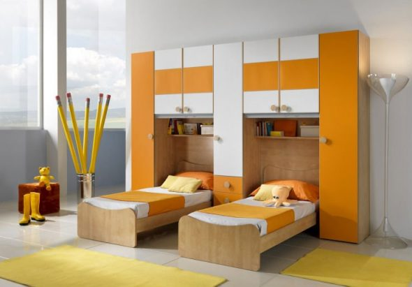 meubles dans les chambres doubles