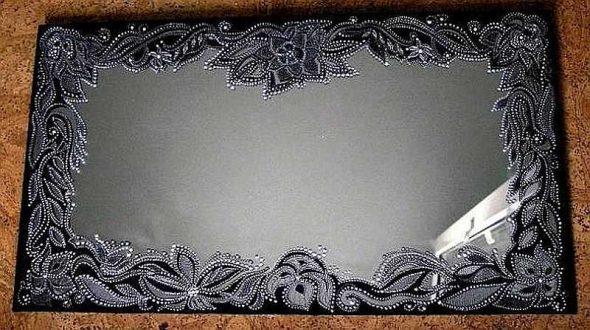 sur verre (dentelle acrylique)