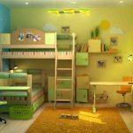 équiper une chambre d'enfants hétérosexuels