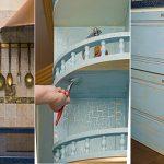 we selecteren het meubilair in de keuken