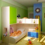 aménager des meubles pour deux enfants dans la crèche de petites tailles