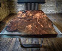 יצירת אפוקסי מדהימה ורהיטי עץ