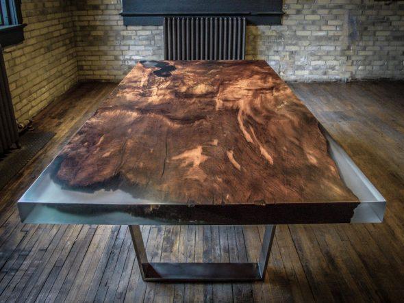 het creëren van ongelooflijke epoxy en houten meubels