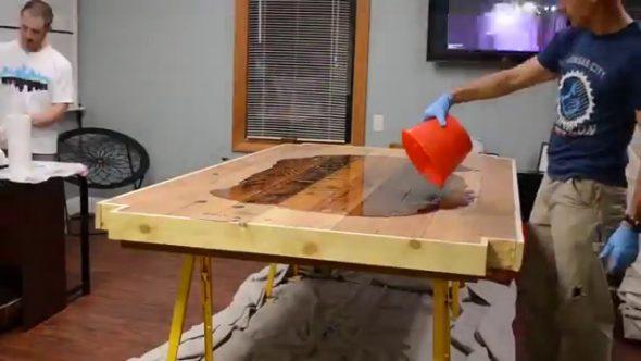 tafel, epoxy tafelblad