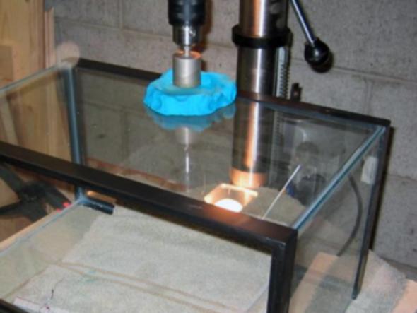 perçage de fil de cuivre