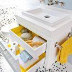 table de chevet sous la conception de l'évier