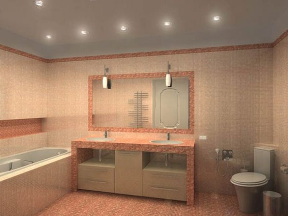 installer un miroir de salle de bain sur un niveau