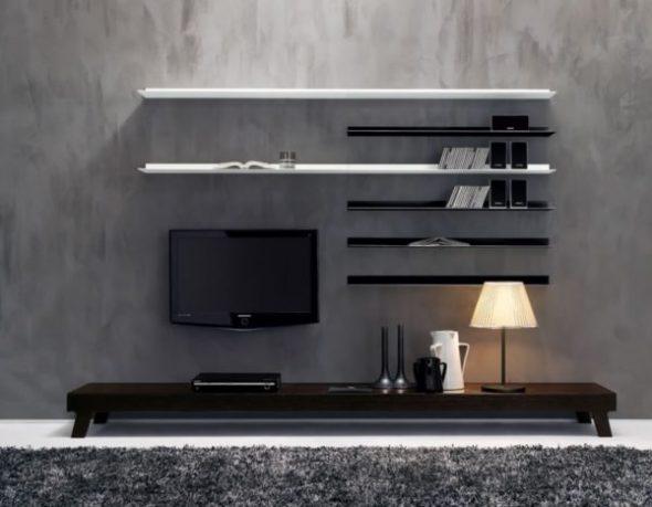 Design mural avec tv