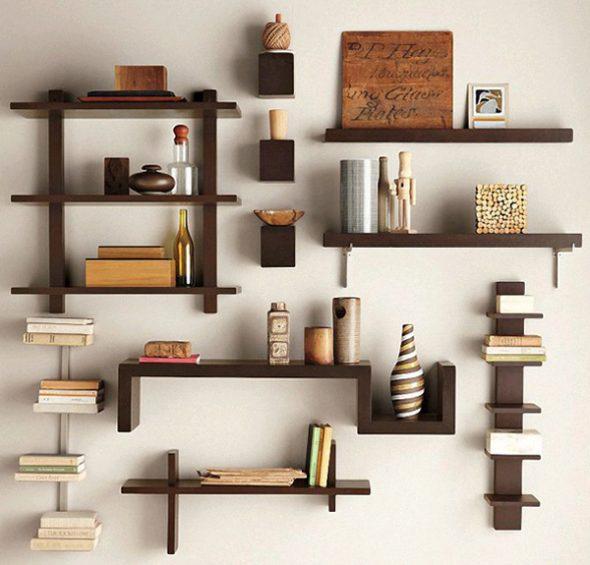 Toiminnalliset ja söpö hyllyt seinällä ovat hyödyllisiä kaikissa huoneissa tai huoneistossa