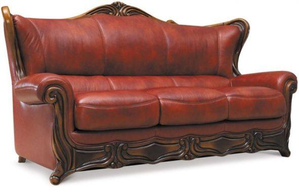 Canapé pliant en cuir Galileo