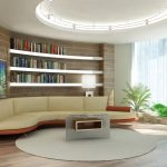 Wonderland-hylly yli olohuoneen sohvan