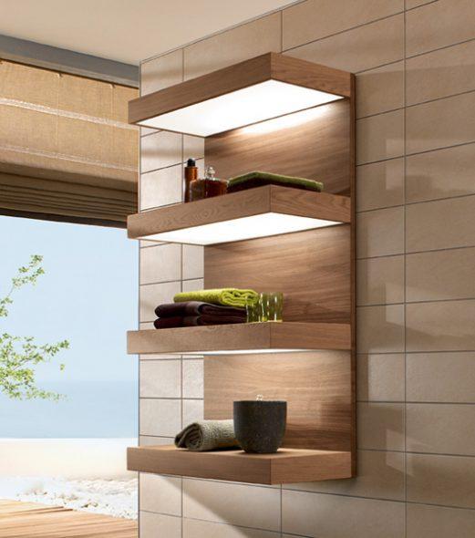 Les étagères pour la salle de bain faites-le vous-même