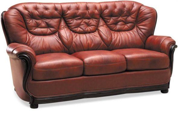 Canapé Senator meubles en cuir rembourrés