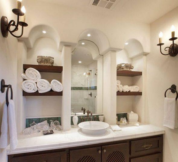 Étagères de salle de bains modernes faites-le vous-même