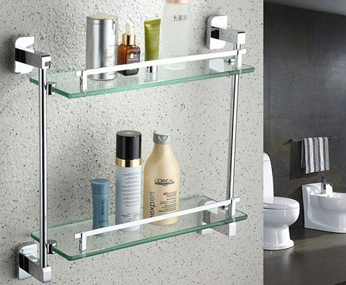 Étagères en verre pour la salle de bain - confortable et belle