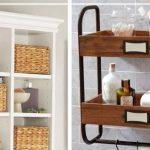 Types d'étagères en bois à placer au dessus de la salle de bain