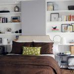 valkoinen makuuhuoneen hyllyt
