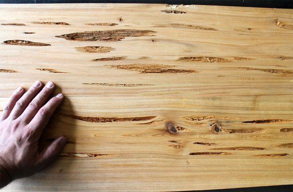 plateau de table en bois