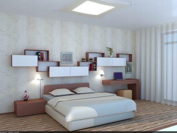 hyllyn muotoinen sängyn yläpuolelle